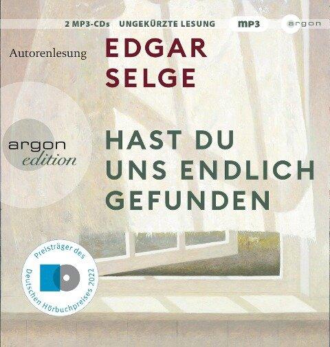 Hast du uns endlich gefunden - Edgar Selge