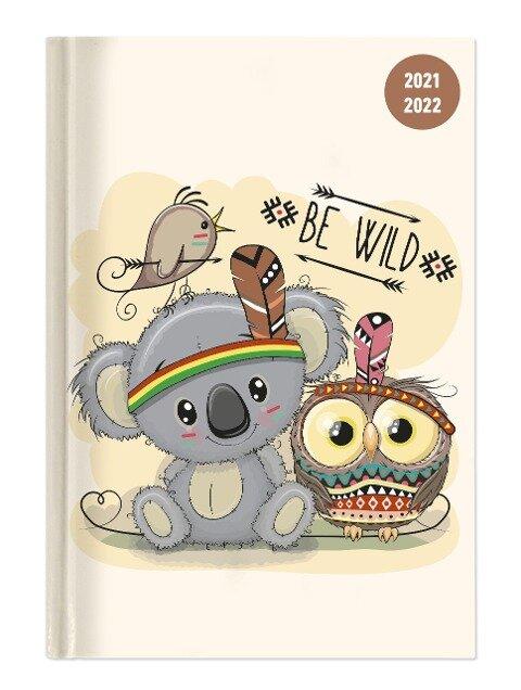 Collegetimer Be Wild! 2021/2022 - Schüler-Kalender A6 (10x15 cm) - Day By Day - 352 Seiten - Terminplaner - Notizbuch - Alpha Edition -