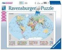 Politische Weltkarte. Puzzle 1000 Teile -