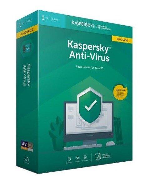 Kaspersky Anti-Virus Upgrade (Code in a Box). Für Windows 7/8/10 -