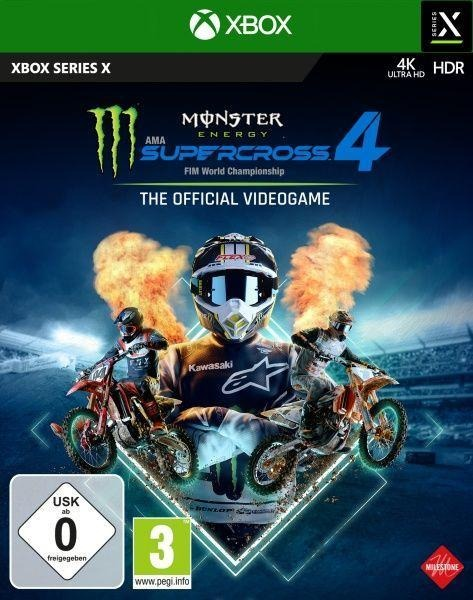 Monster Energy Supercross - The Official Videogame 4 (MS XBox Series X XSRX) -