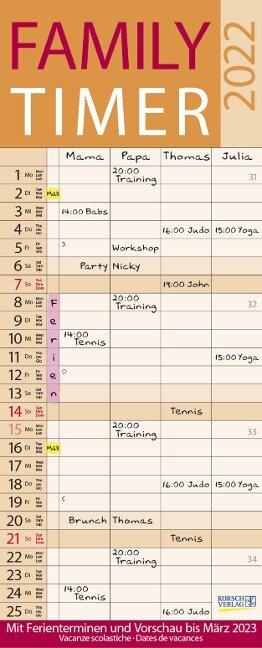 Family Timer Lifestyle 2022 -