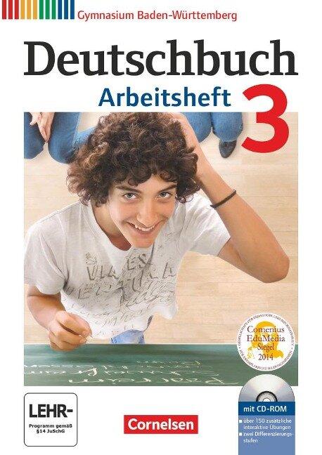 Deutschbuch Gymnasium 3: 7. Schuljahr. Arbeitsheft mit Lösungen und Übungs-CD-ROM. Baden-Württemberg - Armin Fingerhut, Christoph Fischer, Manuela Wölfel