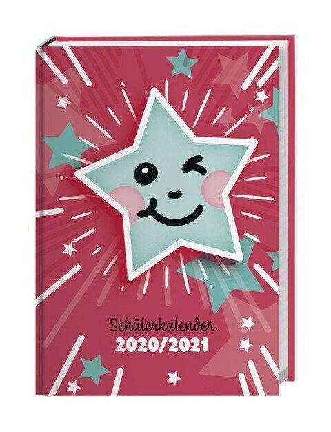 Pailletten Smiley Schülerkalender A5 - Kalender 2021 -