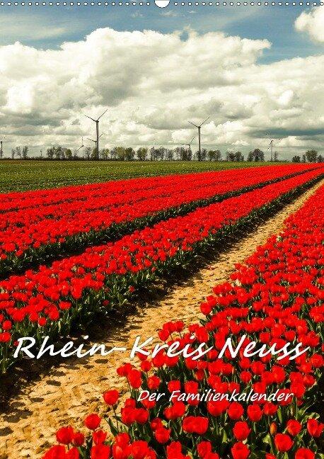 Rhein-Kreis Neuss - Der Familienkalender (Wandkalender 2021 DIN A2 hoch) - Bettina Hackstein