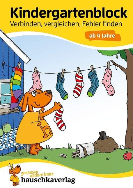 Kindergartenblock - Verbinden, vergleichen, Fehler finden ab 4 Jahre - Linda Bayerl