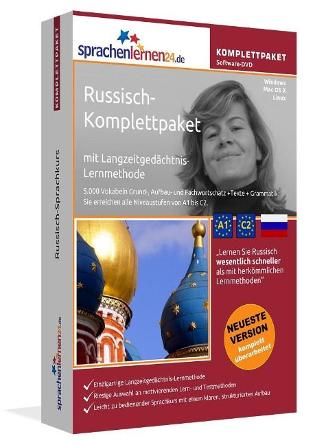 Sprachenlernen24.de Russisch-Komplettpaket (Sprachkurs) -