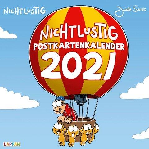 Nichtlustig Postkartenkalender 2021 - Joscha Sauer