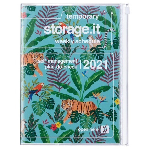 MARK'S 2020/2021 Taschenkalender A5 vertikal, Storage.it, Jungle Turquoise. -