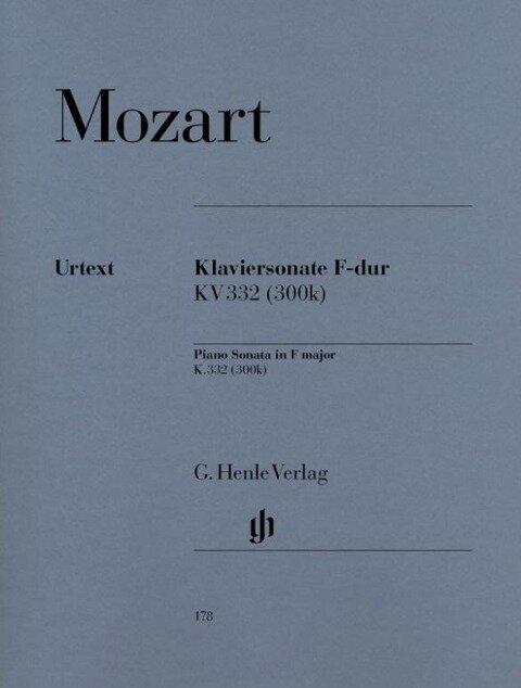 Klaviersonate F-dur KV 332 (300k) - Wolfgang Amadeus Mozart