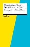 Textausgabe + Lektüreschlüssel. Heinrich von Kleist: Das Erdbeben in Chili - Susanne Gröble, Heinrich von Kleist