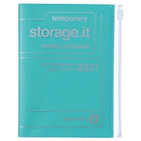 MARK'S 2020/2021 Taschenkalender A6 vertikal, Storage.it Turquoise. -
