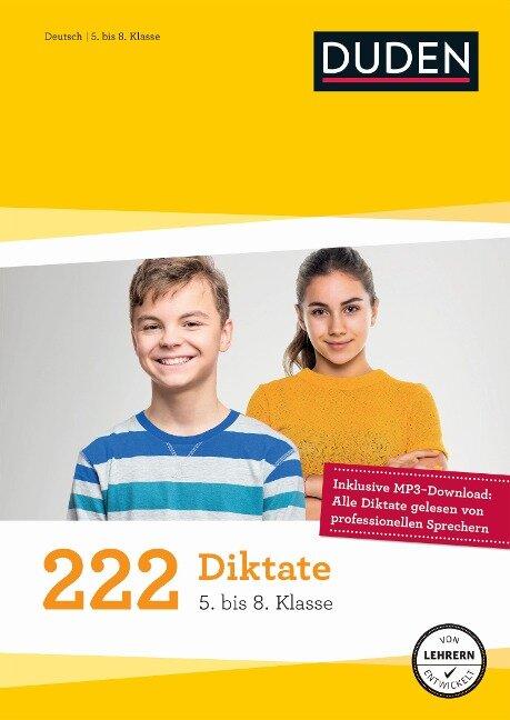 222 Diktate - 5. bis 8. Klasse - Hans-Jörg Richter, Holger Moos, Marc Dehoust, Maria Bley, Wiebke Gerstenmaier