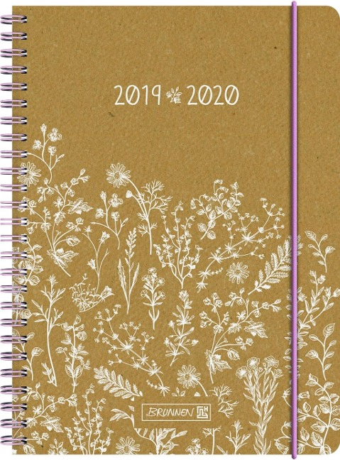 BRUNNEN Schülerkalender 2019/20 Vintage, Recyclingleder, -