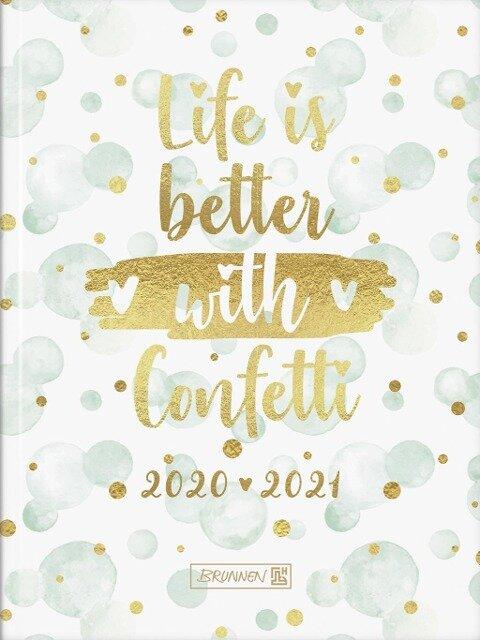 BRUNNEN 1071720091 Tageskalender/Schülerkalender 2020/2021 Confetti -