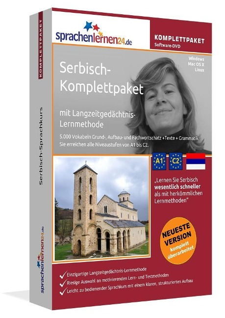 Sprachenlernen24.de Serbisch-Komplettpaket (Sprachkurs) -