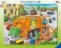 Müllabfuhr. Rahmenpuzzle 35 Teile -