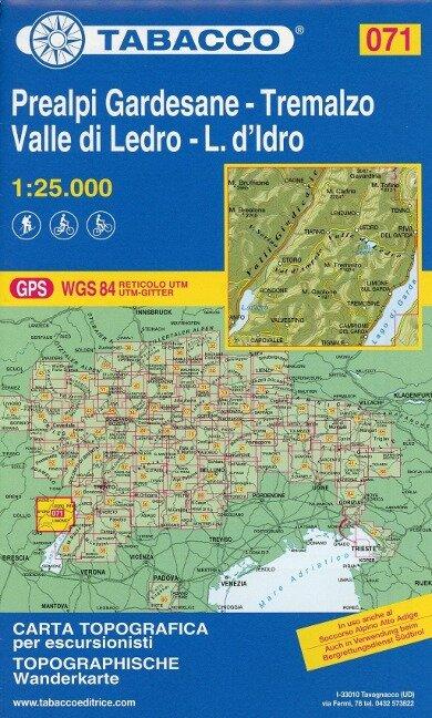 Tabacco Wandern 1 : 25 000 Prealpi Gardesane -Tremalzo Valle di Ledro-L.d'Idro -