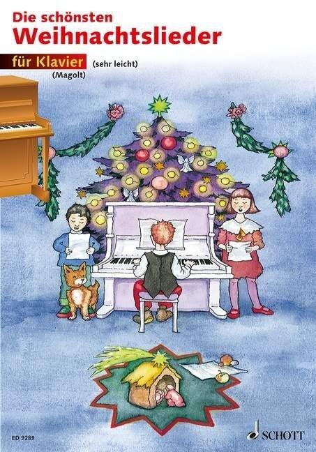 Die schönsten Weihnachtslieder sehr leicht bearbeitet. Klavier. -