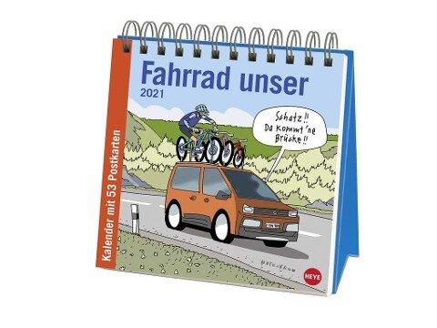 Butschkow Fahrrad unser - Aufstell-Postkartenkalender 2020 - Peter Butschkow