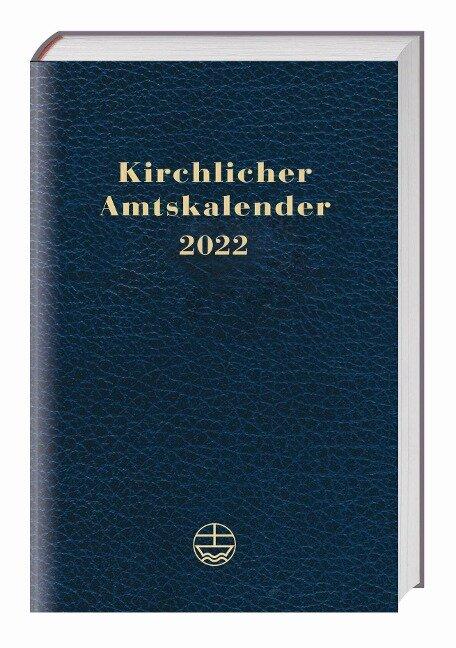 Kirchlicher Amtskalender 2022 - blau -