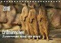 Erdmännchen - Zusammen sind wir stark (Tischkalender 2018 DIN A5 quer) - Peter Hebgen