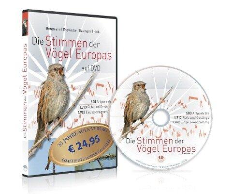 Die Stimmen der Vögel Europas auf DVD - Hans-Heiner Bergmann, Wiltraud Engländer, Sabine Baumann, Hans-Wolfgang Helb
