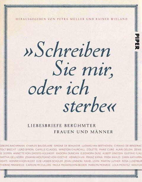 """""""Schreiben Sie mir, oder ich sterbe"""" - Petra Müller, Rainer Wieland"""