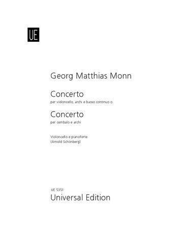 Concerto - Georg Matthias Monn