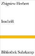 Inschrift - Zbigniew Herbert