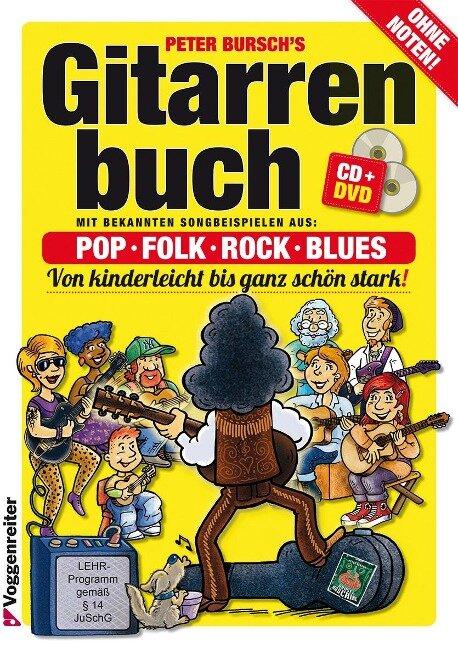 Gitarrenbuch 1. Mit DVD und CD - Peter Bursch