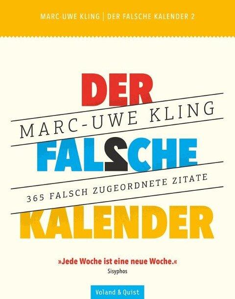 Der falsche Kalender 2 - Marc-Uwe Kling