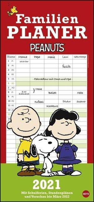 Peanuts Familienplaner - Kalender 2021 -