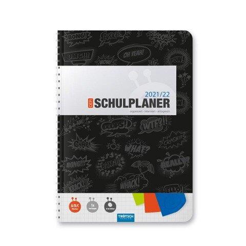 Trötsch Schulplaner Schwarz 2021/2022 -