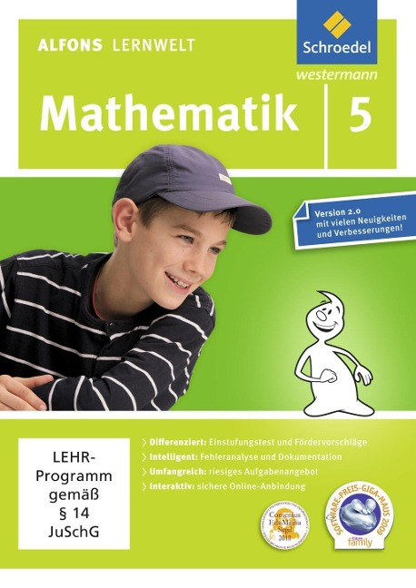 Alfons Lernwelt Lernsoftware Mathematik 5. CD-ROM - Ute Flierl, Wolfgang Francich, Rainer Wagenhäuser