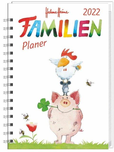 Helme Heine Familienplaner Buch A6 - Kalender 2022 -