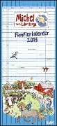 Michel aus Lönneberga Familienkalender 2019 - Familien-Planer mit 5 Spalten -