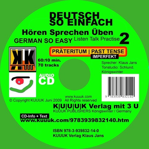Deutsch So Einfach - Hören Sprechen Üben 2 - German So Easy - Talk Listen Practise 2 - Klaus Jans