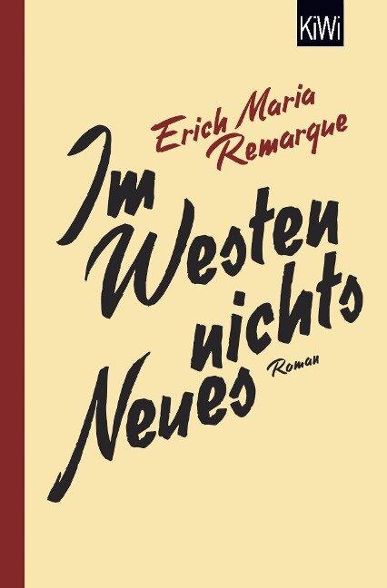 Im Westen nichts Neues - E. M. Remarque