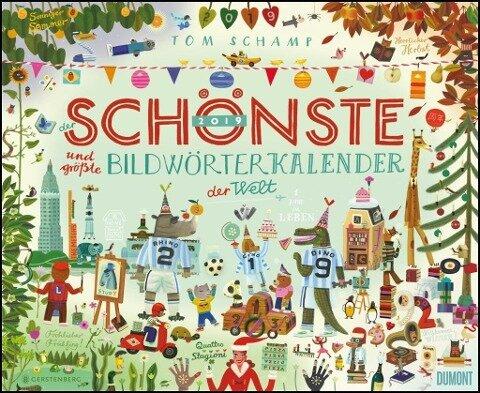 Der schönste und größte Bildwörterkalender der Welt 2019 - DUMONT Kinderkalender - Wandkalender -