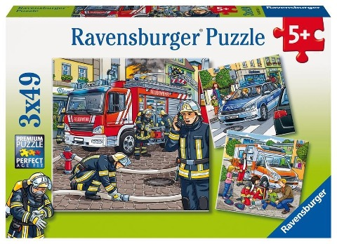 Helfer in der Not. Puzzle 3 x 49 Teile -