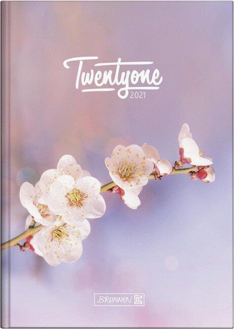 "BRUNNEN 1079515021 Tageskalender/Buchkalender 2021 Modell 795 ""Blossom"" -"