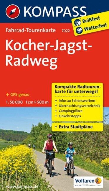 Kocher-Jagst-Radweg 1 : 50 000