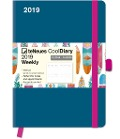 Cool Diary Petrol/Tiki 2019 Taschenkalender groß -