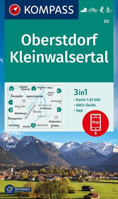 KOMPASS Wanderkarte Oberstdorf, Kleinwalsertal 1:25 000 -