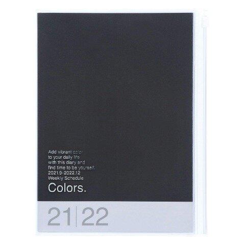 MARK'S 2021/2022 Taschenkalender A5 vertikal, COLORS // Black -