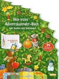 Mein erstes Adventskalender-Buch zum Suchen und Schmücken - Mit 24 Türchen und Spiel-Stickern - Maria Wissmann