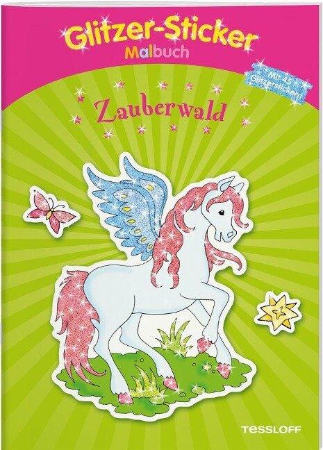 Glitzer-Sticker-Malbuch. Zauberwald -