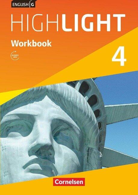 English G Highlight 04: 8. Schuljahr. Workbook mit Audios Online Hauptschule - Gwen Berwick, Sydney Thorne