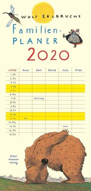 Wolf Erlbruchs Familienplaner 2020 - Wolf Erlbruch